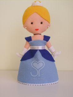 SueLinhas: Princesas em feltro: Bela, Cinderela, Sininho, Ariel, Aurora e Branca de neve