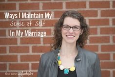 Great tips for maintaining your sense of self in your marriage while still being a team with your spouse!