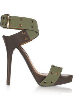 RALPH LAUREN COLLECTION Jesalin canvas sandals