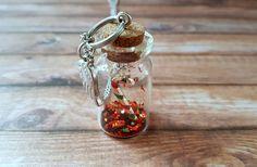 """Edelstahl-Halskette Flasche mit Anhänger """"Christmas"""" von RainbowFairground auf Etsy"""