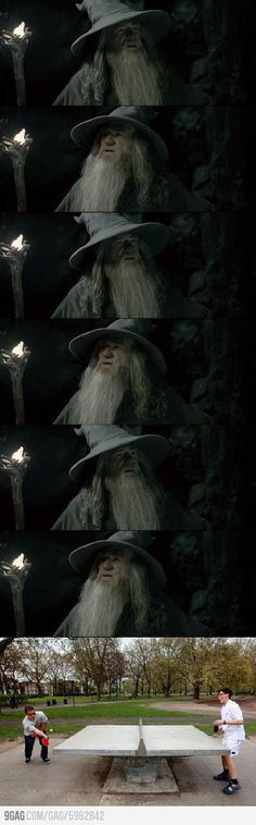 Entertained Gandalf