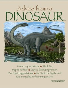 Advice from a dinosaur