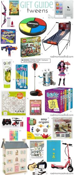 Gift Guide: Tweens! www.radmomcoolkid.com