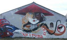 Mur de graf à la Perrière - Lorient - mars 2014
