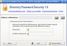Directory Password Security is a handy freeware designed to apply passwords on a directories or files. Once the directory or file is locked, it can not be accessed until correct password is put. Router Configuration, Lock Folder, Password Security, Follow Us On Twitter, Software, How To Apply, Free, Windows, Ramen