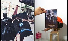 Edward Scissorhands, The Terminator, Gollum and Darth Vader Movie Postcards Wins Facebook Top Ten!