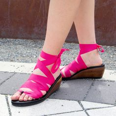 Moped Mid Wedge Thong Sandal by Mohop: Handmade Vegan Shoes with Interchangeable Ribbons by mohop on Etsy https://www.etsy.com/listing/113576147/moped-mid-wedge-thong-sandal-by-mohop