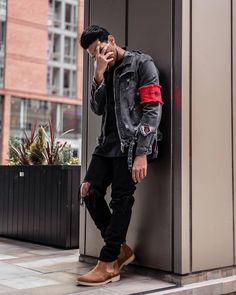 In Fashion Mens Clothes Modern Mens Fashion, Big Men Fashion, Mens Boots Fashion, Best Mens Fashion, Fashion Moda, Urban Fashion, Fashion Trends, Dope Fashion, Mens Style Guide