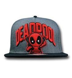 Deadpool Kawaii Flatbill Snapback Cap - Front View Deadpool Kawaii 8ce6c204c7b