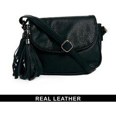 Urbancode Leather Mini Black Cross Body Bag