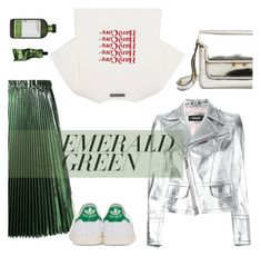 """""""Lueur"""" by minorseventh ❤ liked on Polyvore featuring Dsquared2, Marni, N°21, Perricone MD, AlexaChung, adidas Originals, Aesop and emeraldgreen"""