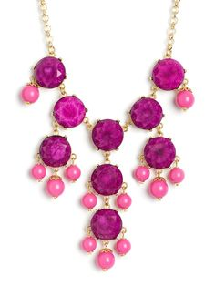 Regal, royal, extravagant and elegant, this statement necklace is an absolute knockout. $38