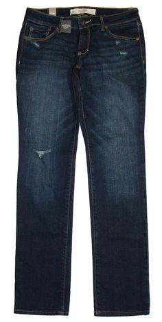 NEW Abercrombie & Fitch Womens Jeans A&F Skinny Destroyed Denim 6S 28/31 NWT $88 #AbercrombieFitch #SlimSkinny
