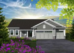 Plan 89881AH: Affordable 3 Bedroom Ranch