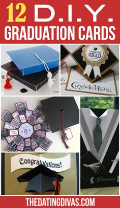 Graduation Invitation Ideas Homemade Unique Diy Gifts Diy Graduation Cards these are so Fun My Graduation Card Boxes, Graduation Cards Handmade, Graduation Crafts, Personalized Graduation Gifts, College Graduation Gifts, Graduation Party Invitations, Graduation Ideas, Handmade Cards, Graduation Cookies
