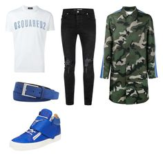 """""""Giuseppe Walkin"""" by aintdatjulian on Polyvore featuring Dsquared2, Topman, Valentino, Robert Graham, Giuseppe Zanotti, men's fashion and menswear"""
