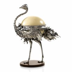 A Fabergé sculptural bonbonnière in the form of an ostrich, workmaster Julius Rappoport, St Petersburg, circa 1895 | Lot | Sotheby's