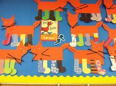 Fox in socks Dr Seuss Activities, Preschool Themes, Preschool Activities, Dr Seuss Crafts, Fox Crafts, Dr Seuss Week, Dr Suess, 1st Grade Crafts, March Crafts