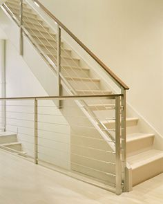 Cream and Wood Stairs by Deborah Berke, 10 Favorites: Modern Neutral Stairs | Remodelista