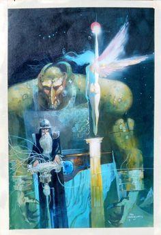 NightWings Cover Art by Bill Sienkiewicz (1985)
