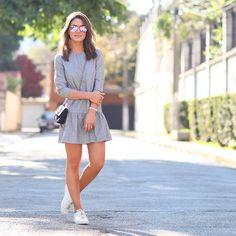 My look: Casual Sunday - Dress & Sneakers! - Super Vaidosa camila coelho look feminino casual com tenis Casual Chic, Style Casual, Casual Looks, Casual Fashion Trends, Outfit Trends, Fashion Ideas, Outfit Ideas, 30 Outfits, Summer Outfits