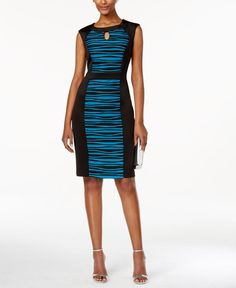 Connected Printed Colorblocked Sheath Dress - Brought to you by Avarsha.com