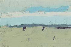 Nicolas de Staël Honfleur oil on board 16 x 24 cm Abstract Landscape Painting, Landscape Art, Landscape Paintings, Michael Borremans, Tachisme, Honfleur, Minimalist Landscape, Surrealism Painting, Art Moderne