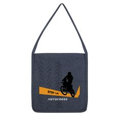 Motocross Orange and Black Tote Bag