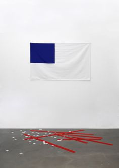 Flag by Yarisal & Kublitz. Flag Art, Exhibition Display, Flags Of The World, Art For Art Sake, Conceptual Art, Art Object, Installation Art, Art Education, Art Blog