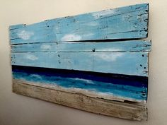 Decided our bedroom was getting boring so i thought a home made reclaimed wood painting would help.
