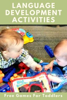 Language development activities for toddlers I have A LOT of information here for you so take your time to explore. Below is a wealth of knowledge and free game ideas depending on the area of need such as listening skills, first words, etc… It is importa Communication And Language Activities, Toddler Language Development, Communication Development, Baby Development, Speech Activities, Speech Therapy Activities, Infant Activities, Learning Activities, Activities For Kids