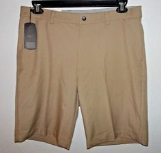 Menscave7 SALE + Free ship! Greg Norman Casual Shorts Classic Fit Flat Front 34 Beige Performance Stretch #mensfashion #golf #golfer #GregNorman #CasualShorts