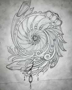 Love the shell and spiral, would replace gems and such with herbs                                                                                                                                                      More