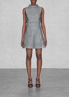 & other stories houndstooth dress