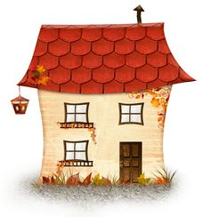 Cartoon house PNG and Clipart House Doodle, Color Durazno, House Clipart, Cartoon House, Butterfly Clip Art, Cute House, Wooden Picture, Happy Paintings, Autumn Art