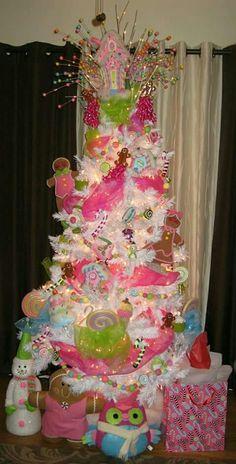 xmas tree pink christmas tree decorations gingerbread christmas tree girly christmas tree - Candy Themed Christmas Tree