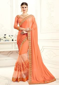 Peach Saree, Full Movies Download, Sari, Queen, Fashion, Saree, Moda, Fashion Styles, Fashion Illustrations