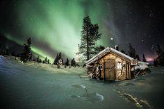 Nuit polaire, en Finlande