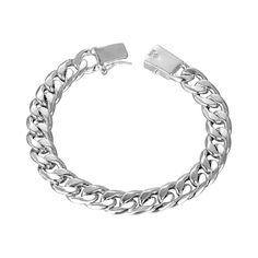 Complete your everyday look with this stunning and timeless link bracelet boasting a sterling silver plated finish and delicate link design.      	8.5'' circumference  	0.25'' W  	Sterling silver-plated base metal  	Imported   | Shop this product here: http://spreesy.com/hollywoodsensation/473 | Shop all of our products at http://spreesy.com/hollywoodsensation    | Pinterest selling powered by Spreesy.com