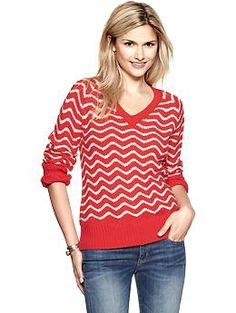 Chevron stripe pullover | Gap