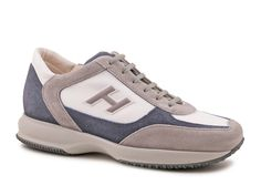 Hogan Interactive sneakers in Light gray and blue suede - Italian Boutique €172