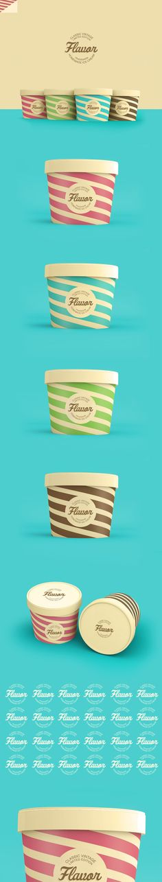 Flavor Ice Cream Packaging Designed by Renan Vizzotto | Brazil http://www.behance.net/arturenan