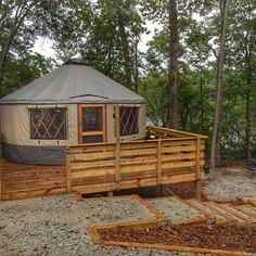 Yurt at Sweetwater Creek State Park. Photo by Lesli Peterson.