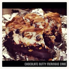 Chocolate nutty meringue