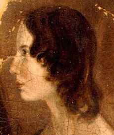 Emily Brontë, author of Wuthering Heights.  Read a review at http://readinginthegarden.blogspot.com/2013/04/wuthering-heights-by-emily-bronte.html