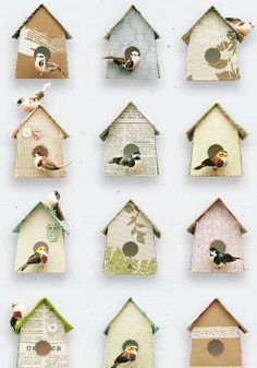 Wallpaper birdhouse from www.bodieandfou.com