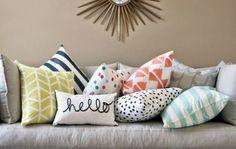 combinação de estampas em almofadas - Pesquisa Google