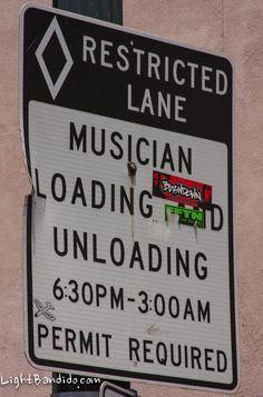 Austin Musician Sign