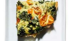 Braised Kale Frittata | Try this easy baked Braised Kale Frittata instead of the usual omelet for breakfast or a light dinner.