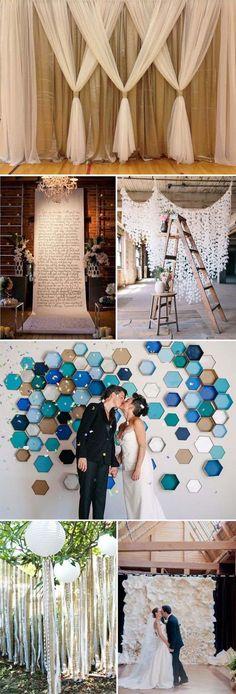 Personaliza tu boda con estas ideas de cortinas de papel.
